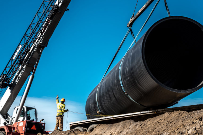 COID Brookswood canal piping project