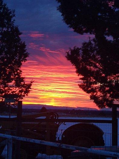 Tumalo farm sunrise Barbara Breyer 1206