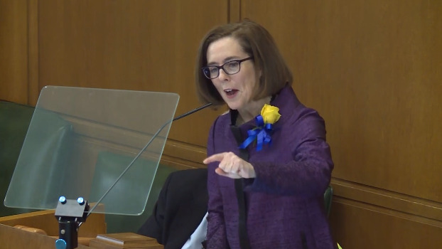 Gov. Kate Brown giving State of the State address