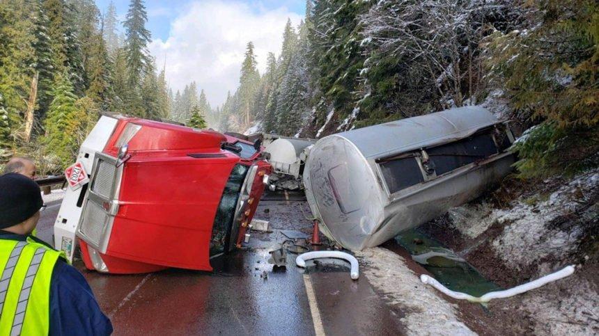 Fuel tanker crash Hwy. 22 OSP 2-16-2
