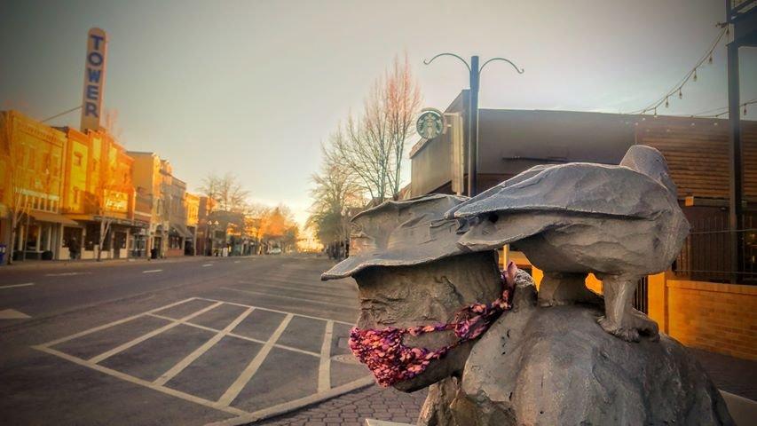 Art mask downtown Bend Benjamin Hanes 322