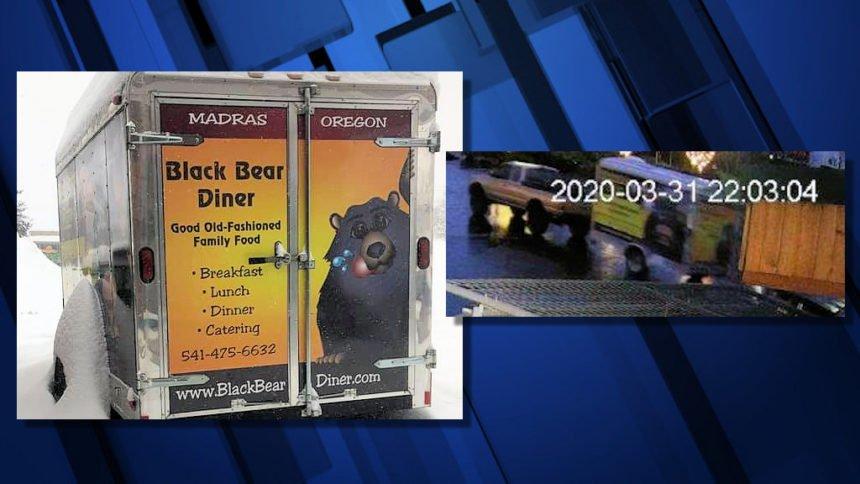 Madras Black Bear Diner catering trailer theft