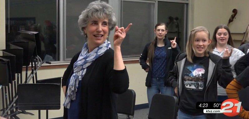 Youth Choir of Central Oregon founder and retiring Artistic Director Beth Basham