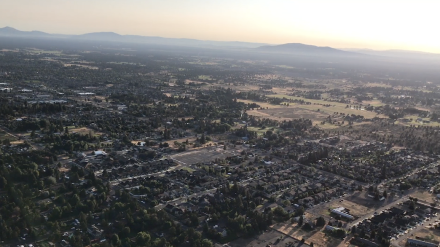 Aerial view of Bend