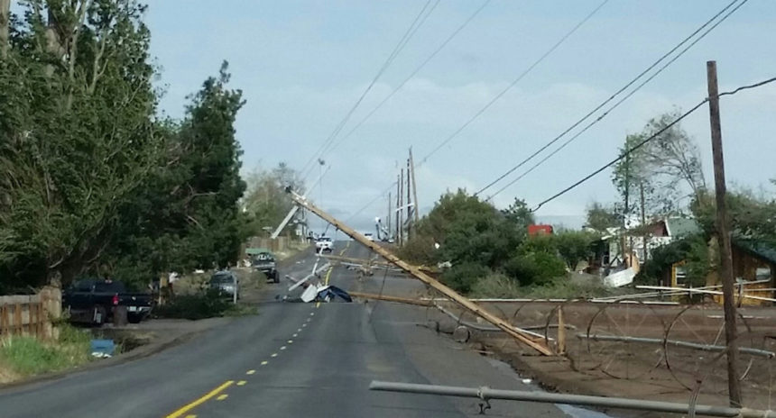 Culver Iris Lane power poles down Saundra Allard 5-30
