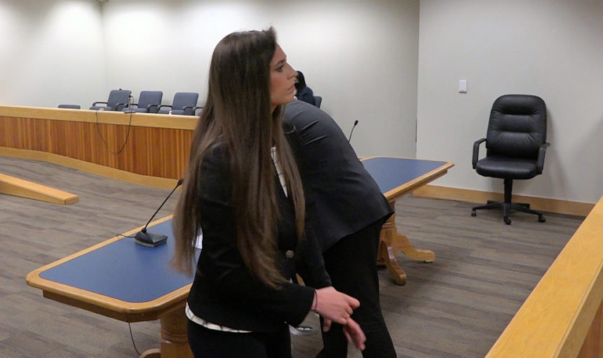 Danielle Bower in court Mike 522