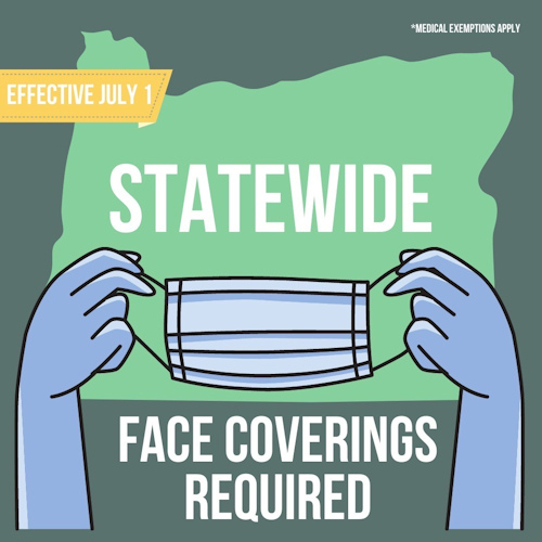 Face coverings required OHA