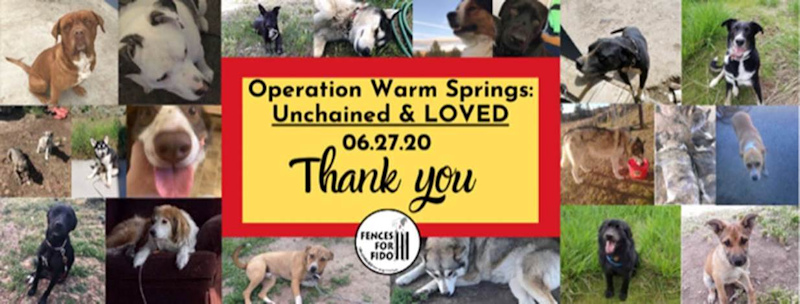 Fences for Fido Operation Warm Springs