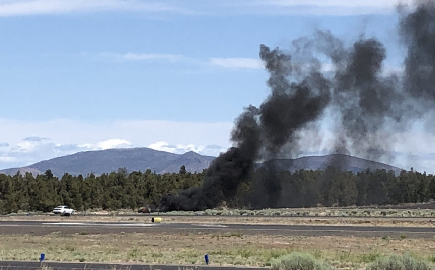 Glider crash fire Bend Airport Jeff Durr 630