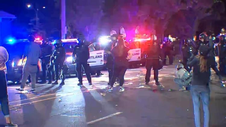 Portland protest declared riot KPTV 630