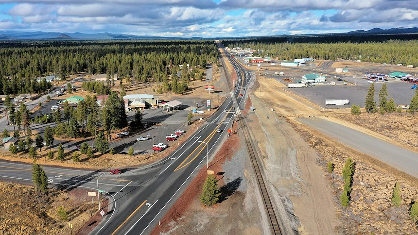 Aerial view of Wickiup Junction