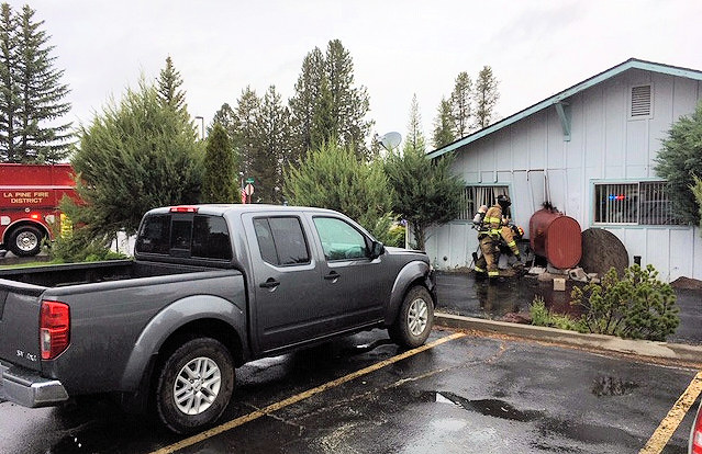 pickup into building La Pine RFPD 615