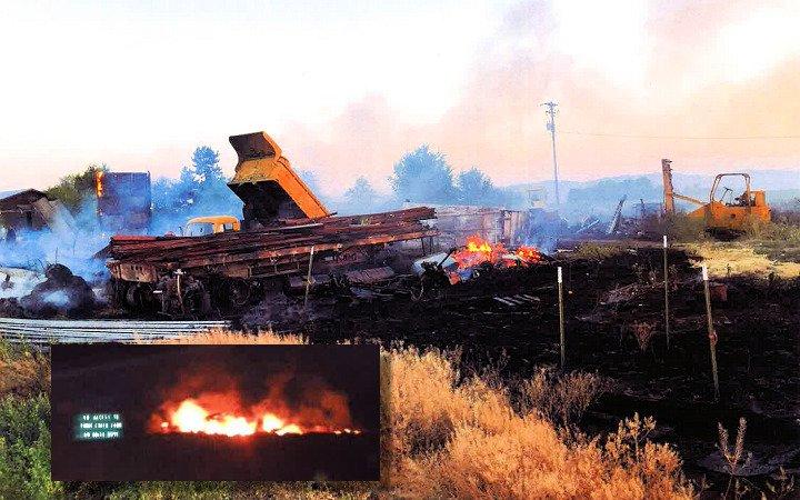Boise Drive barn fire JCFD 731