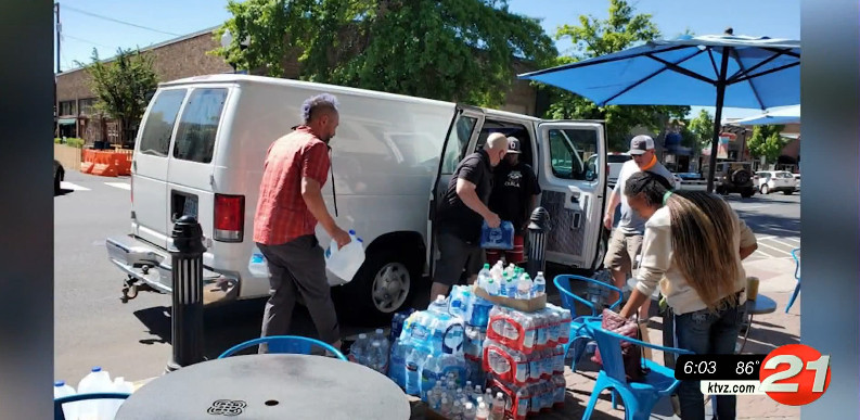 Organizations such as the Central Oregon Black Leadership Assembly have brought water to Warm Springs amid outages, boil-water notices