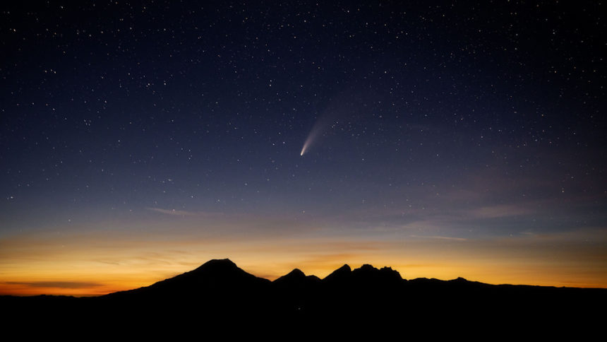 Comet Neowise from Tumalo Mtn Lori Gierloff 717