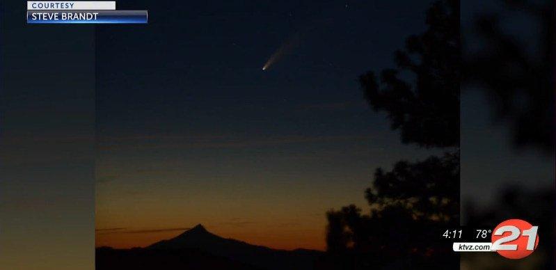 Comet Neowise over Mt. Washington Steve Brandt
