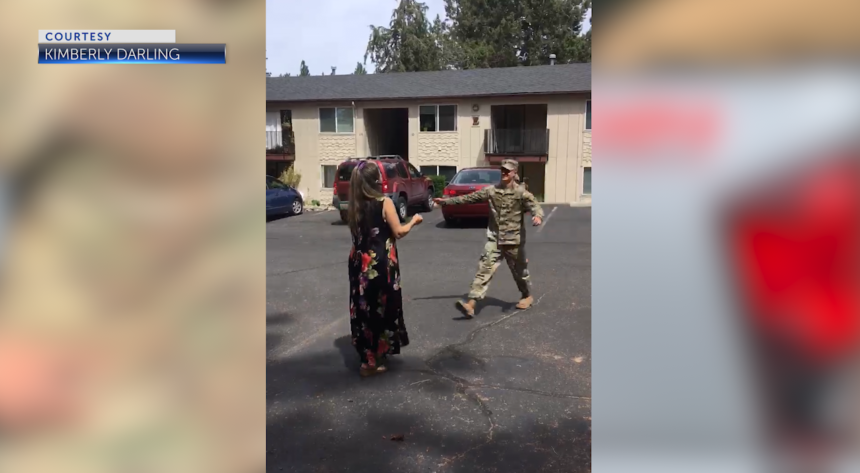 National Guard soldier's surprise Bend homecoming caught on camera - KTVZ