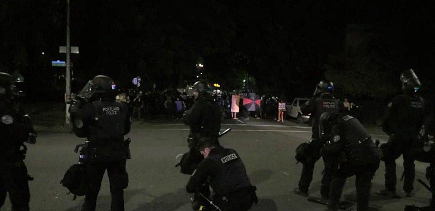Portland police protest 726