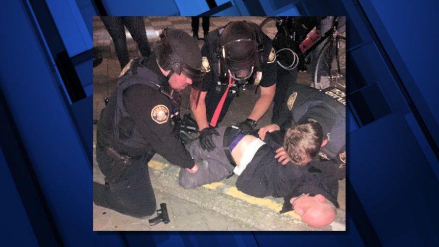 Portland police riot arrest firearm 75