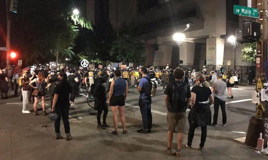 Portland protest KPTV