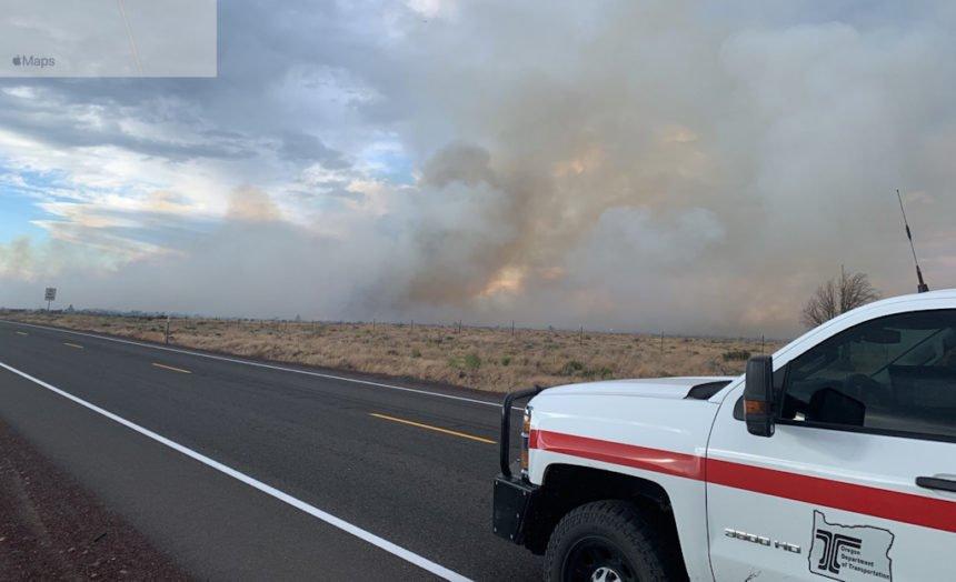Warm Springs fire ODOT 79-2