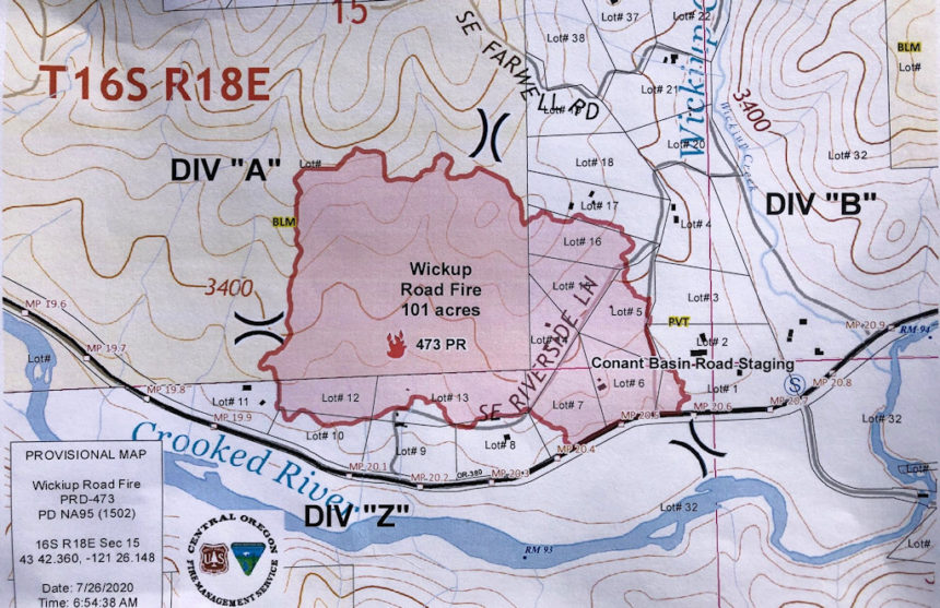 Wickiup Road Fire map COFMS 726