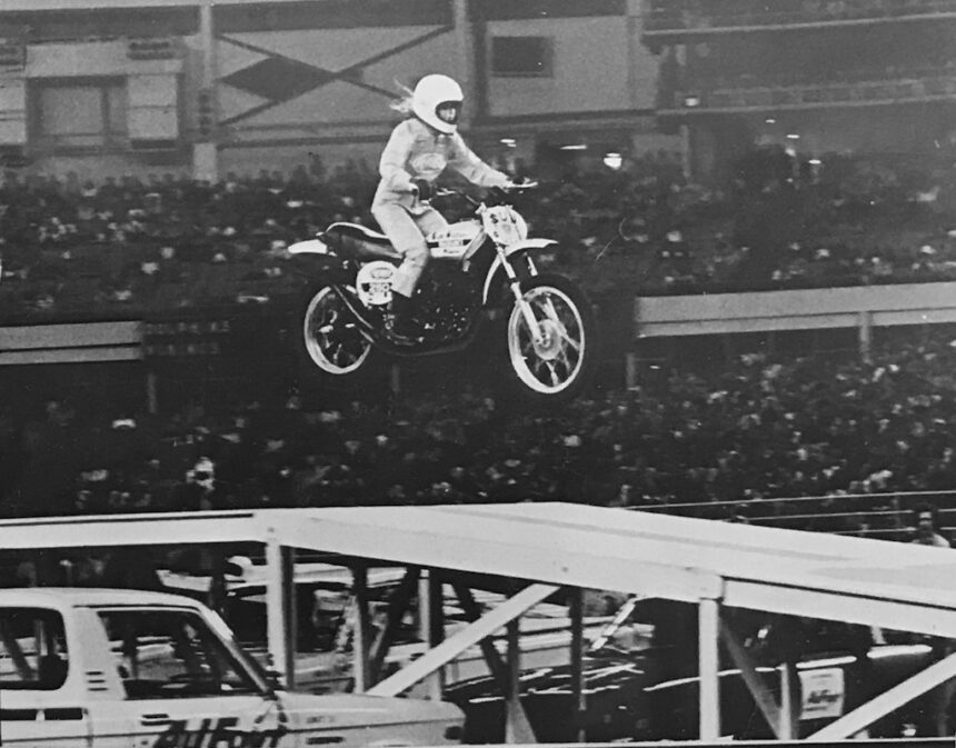Daredevils High Desert Museum Debbie Lawler motorcycle jump