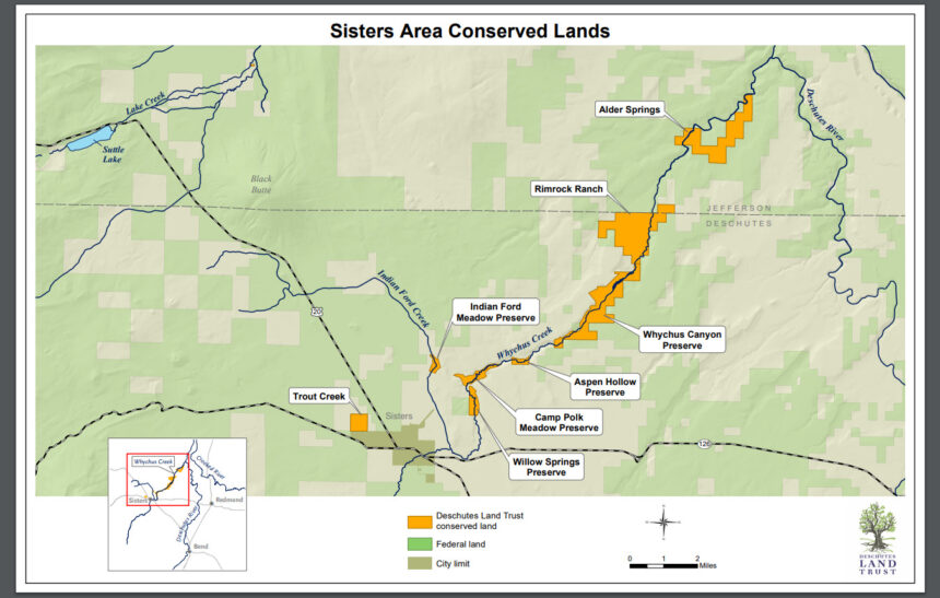 Deschutes Land Trust Sisters area conserved lands