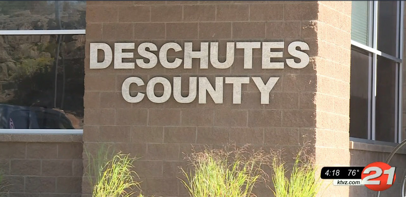 Deschutes County sign