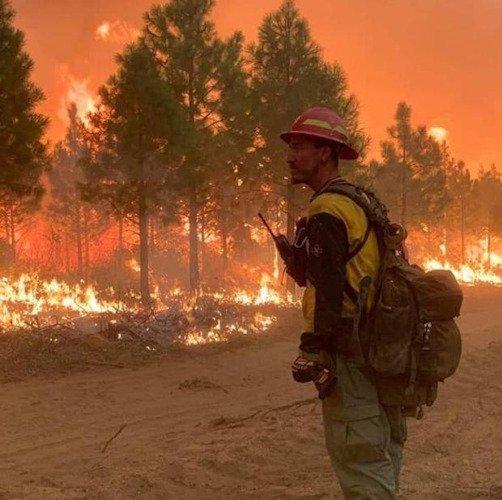 Lionshead Fire burnout operations 922