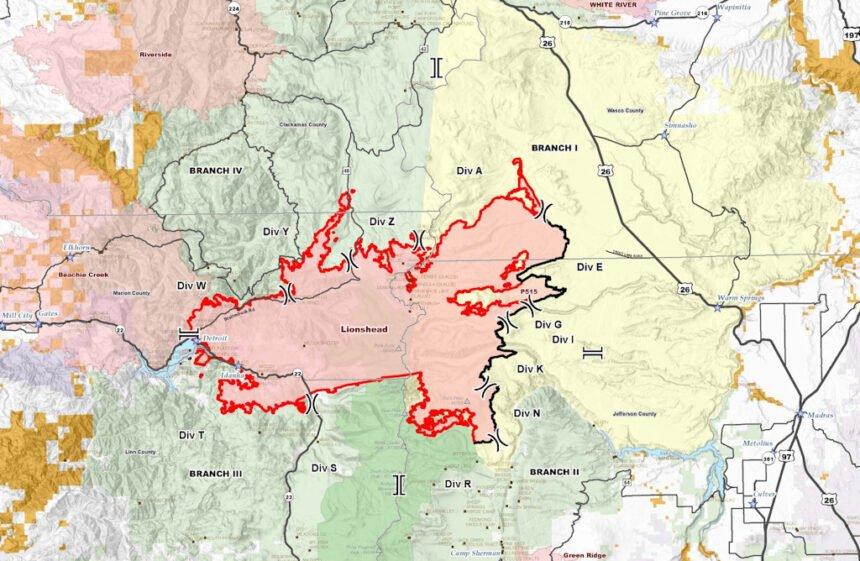 Lionshead Fire map 921