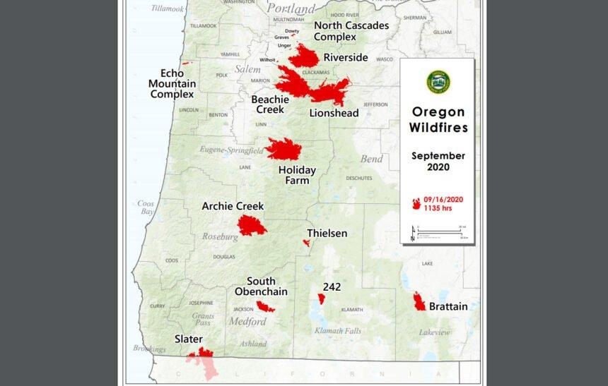 Map of major fires ODF 916