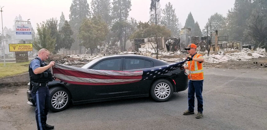 ODOT flag survived Almeda Fire 918