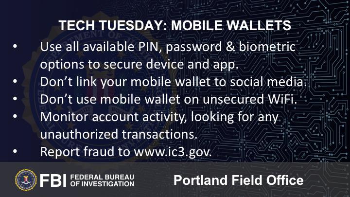 Oregon FBI Tech Tuesday mobile wallets