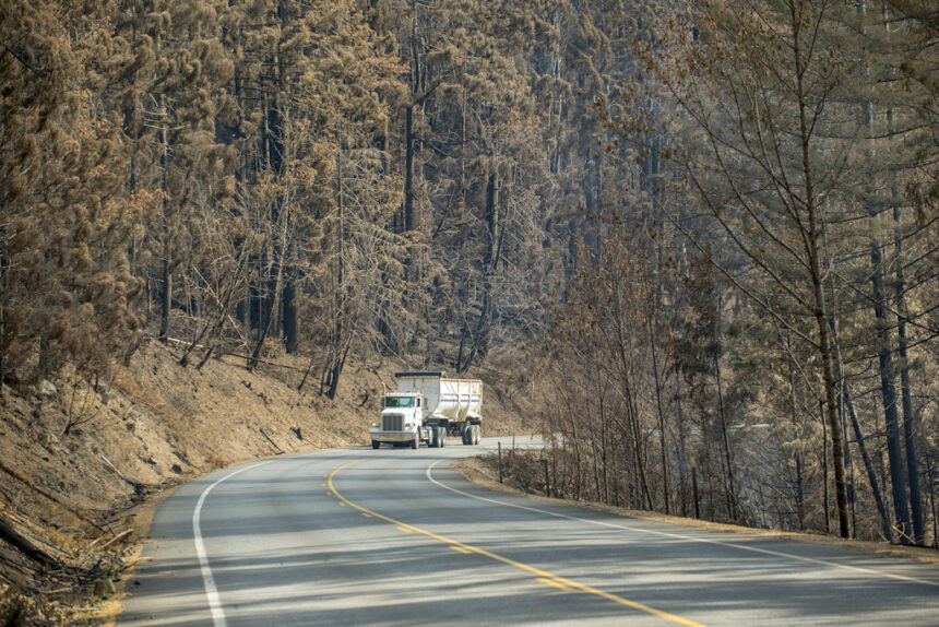 Hwy. 22 burned area ODOT
