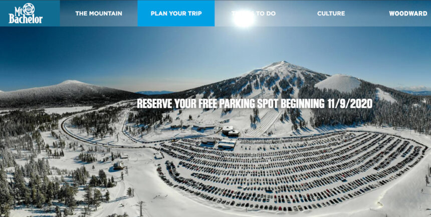 Mt. Bachelor parking lot reservation