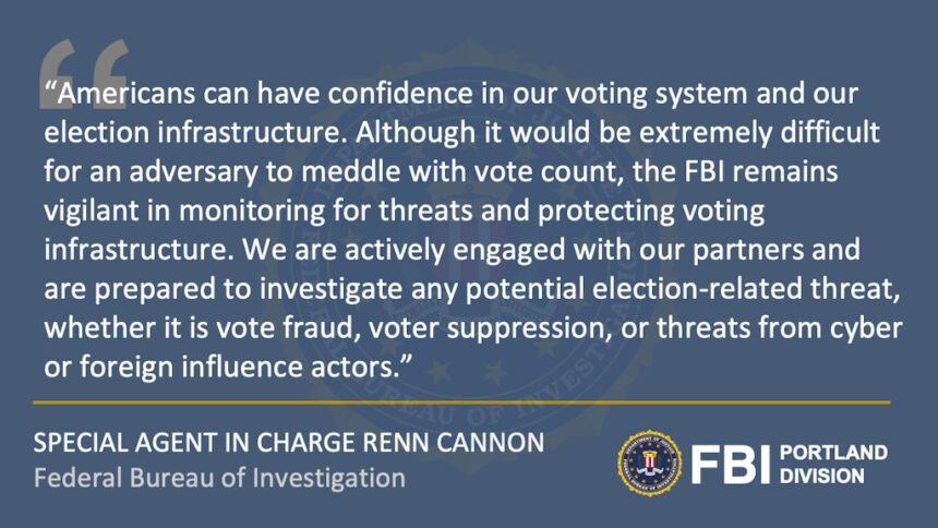 Portland FBI Renn Cannon election statement