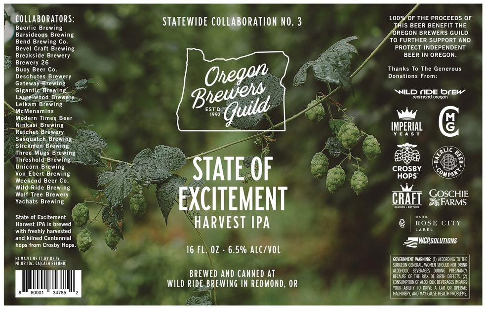 Oregon Brewers Guild Releases State of Excitement No. 3 Harvest IPA - KTVZ