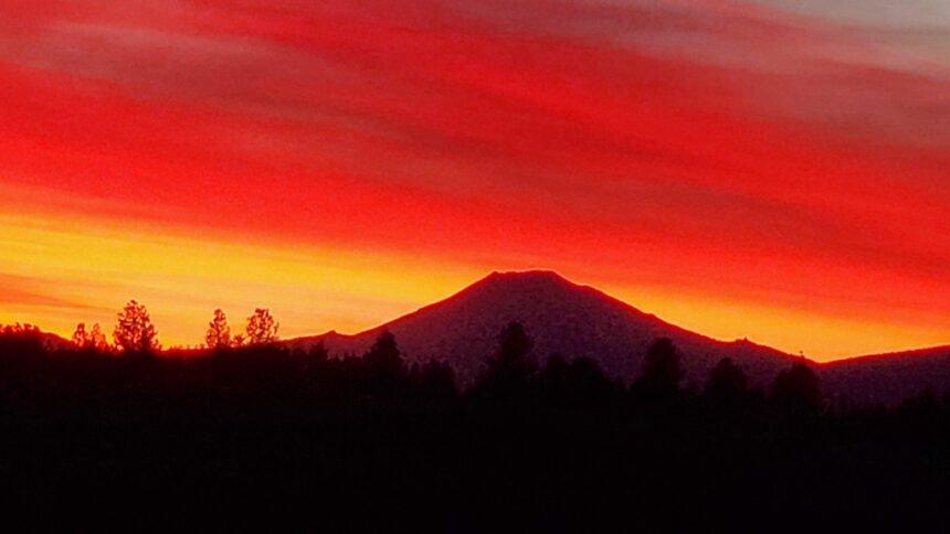 Sunset over Mt. Bachelor Don Wilson 1017