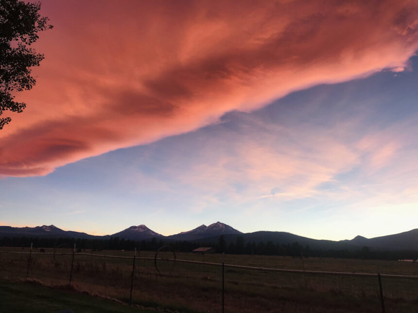Sunset over Three Sisters Brenda Jaros 1016