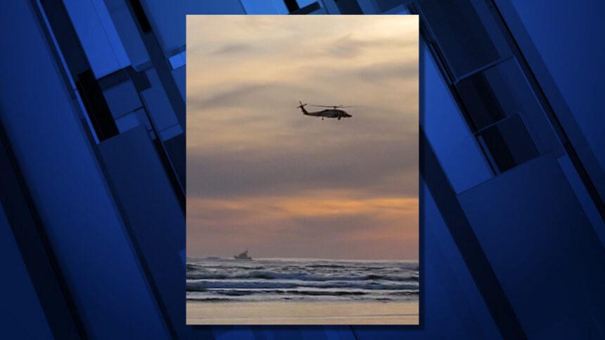 Coast Guard search missing crabber Oregon coast 1127