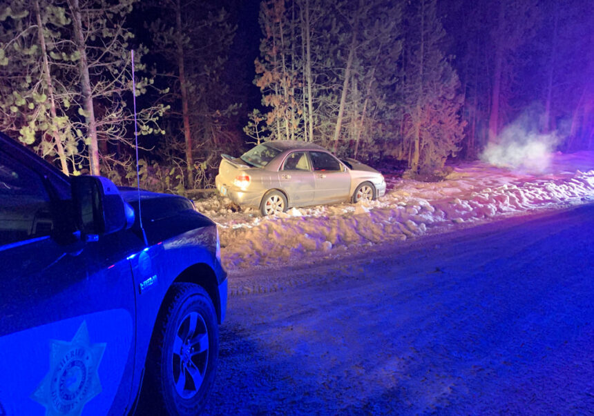 Crash arrest west of La Pine DCSO 113-