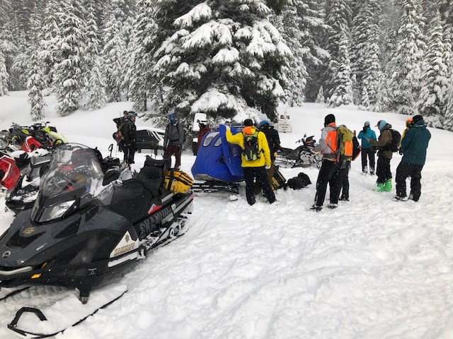 Injured backcountry skier near Todd Lake DCSO SAR 1119