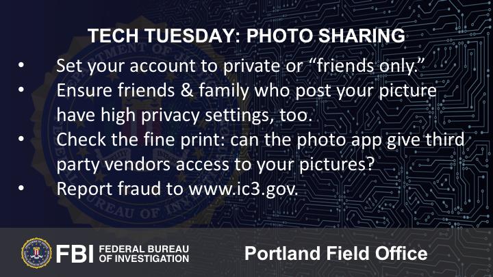 Oregon FBI's Tech Tuesday photo sharing