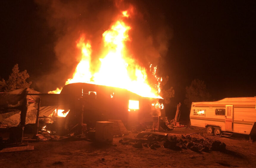 RV fire east of Redmond RFR 1126
