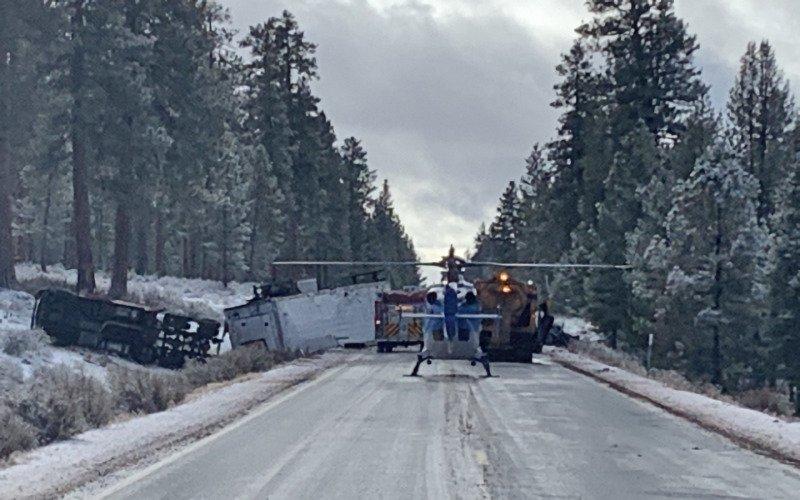 Hwy 97 crash N of Hwy 58 1214-2