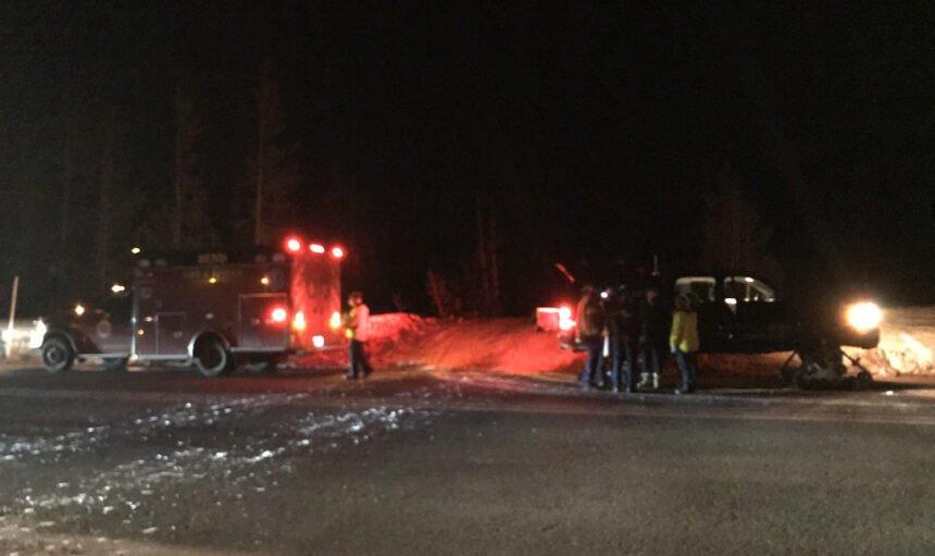 Elk Lake snowmobiler injured rescue DCSO sar 116