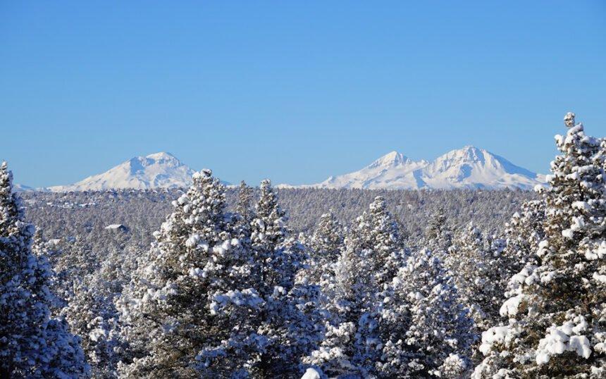 Mountains snow west of Redmond John Spitzer 123