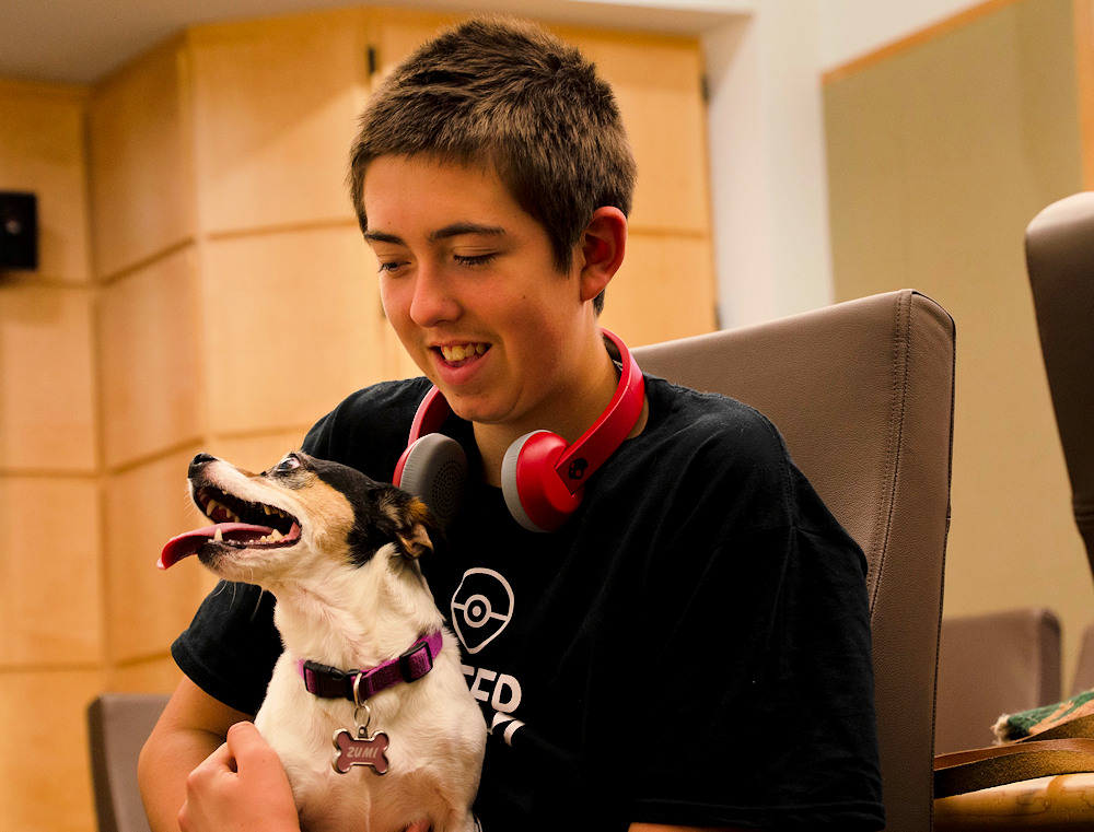 OSU study participant with dog
