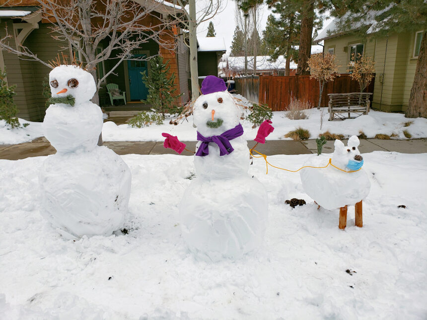 Bend snow family Jeff Hedges